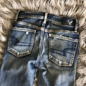 American Eagle Outfitters Jeans - AEO Destroyed Crop Jeggings Sz 0